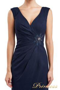 Коктейльное платье 1701 navy. Цвет синий. Вид 3