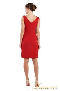 Коктейльное платье 1701 red . Цвет красный. Вид 3
