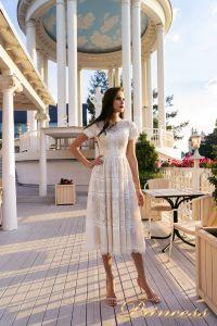 Коктейльное платье NF-17173MD-white. Цвет белый. Вид 3