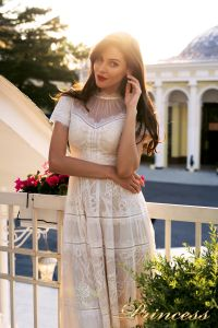 Коктейльное платье NF-17173MD-white. Цвет белый. Вид 2