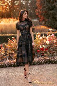 Вечернее платье NF-17173-BLACK. Цвет чёрный. Вид 1