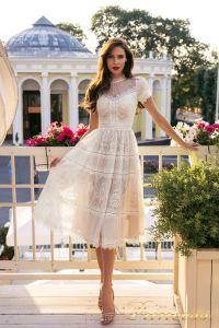 Коктейльное платье NF-17173MD-white. Цвет белый. Вид 1