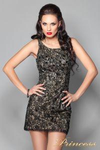 Коктейльное платье 171740. Цвет чёрный. Вид 1