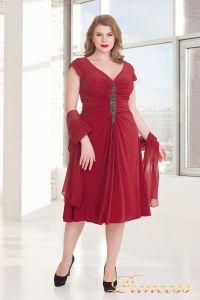 Вечернее платье 720 RED. Цвет красный. Вид 1