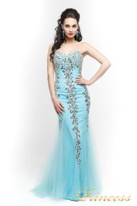 Вечернее платье 17438. Цвет голубой. Вид 1