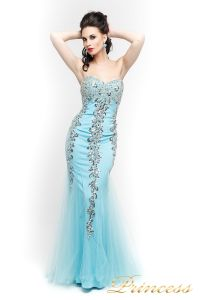 Вечернее платье 17438. Цвет голубой. Вид 3