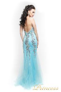 Вечернее платье 17438. Цвет голубой. Вид 4