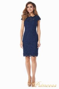 Коктейльное платье 1745 navy. Цвет синий. Вид 2