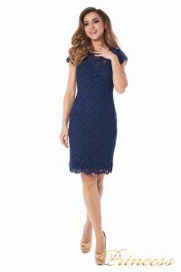 Коктейльное платье 1745 navy. Цвет синий. Вид 4