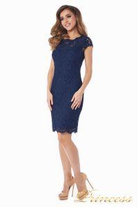 Коктейльное платье 1745 navy. Цвет синий. Вид 5