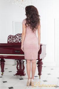 Коктейльное платье 1745 pink. Цвет розовый. Вид 3