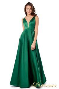 Вечернее платье 18074 green. Цвет зеленый. Вид 4