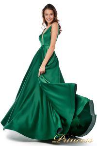 Вечернее платье 18074 green. Цвет зеленый. Вид 2