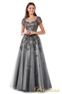 Вечернее платье 18106. Цвет серый. Вид 1