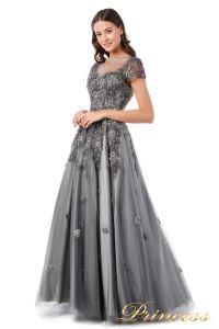 Вечернее платье 18106. Цвет серый. Вид 2