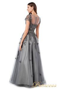 Вечернее платье 18106. Цвет серый. Вид 3