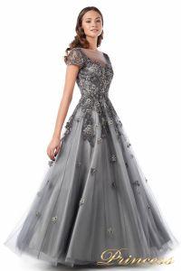 Вечернее платье 18106. Цвет серый. Вид 4