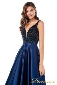 Вечернее платье 18107 navy. Цвет синий. Вид 2