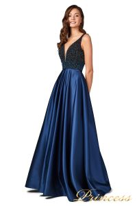 Вечернее платье 18107 navy. Цвет синий. Вид 5