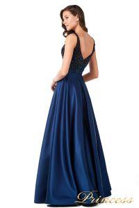 Вечернее платье 18107 navy. Цвет синий. Вид 3