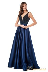Вечернее платье 18107 navy. Цвет синий. Вид 1