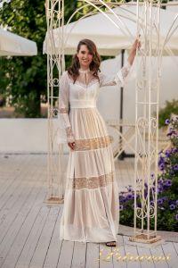 Вечернее платье NF-19033-white. Цвет белый. Вид 1