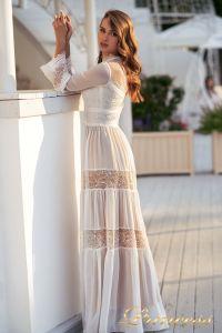 Вечернее платье NF-19033-white. Цвет белый. Вид 3
