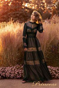 Вечернее платье NF-19033-Black. Цвет чёрный. Вид 1