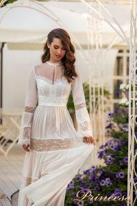 Вечернее платье NF-19033-white. Цвет белый. Вид 2