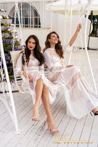 Коктейльное платье NF-19033A-white. Цвет белый. Вид 5