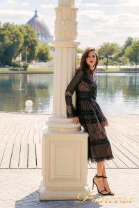 Коктейльное платье NF19033A - black. Цвет чёрный. Вид 5