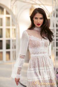 Коктейльное платье NF-19033A-white. Цвет белый. Вид 4