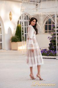 Коктейльное платье NF-19033A-white. Цвет белый. Вид 2