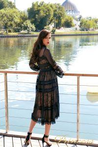Коктейльное платье NF19033A - black. Цвет чёрный. Вид 4