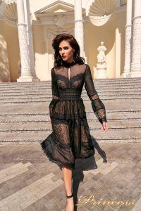 Коктейльное платье NF19033A - black. Цвет чёрный. Вид 1