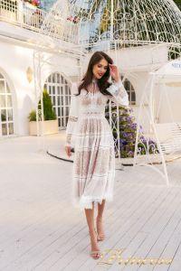 Коктейльное платье NF-19033A-white. Цвет белый. Вид 1