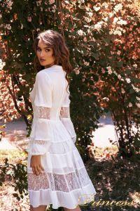 Коктейльное платье NF19034- white. Цвет белый. Вид 3