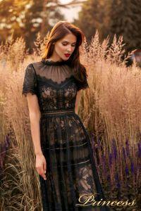 Вечернее платье NF-19037-black. Цвет чёрный. Вид 2