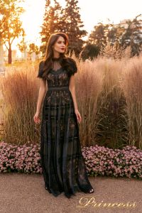 Вечернее платье NF-19037-black. Цвет чёрный. Вид 1