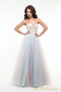 Вечернее платье пышное 194. Цвет цветное . Вид 2