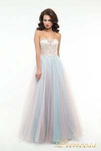 Вечернее платье пышное 194. Цвет цветное . Вид 1