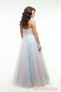 Вечернее платье пышное 194. Цвет цветное . Вид 3
