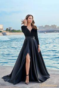 Вечернее платье NF-19058-black. Цвет чёрный. Вид 1