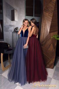 Вечерние платья 19029. Цвет синий. Вид 3