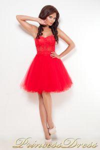 Коктейльное платье 10444. Цвет красный. Вид 4