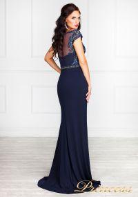 Вечернее платье 12086. Цвет синий. Вид 5