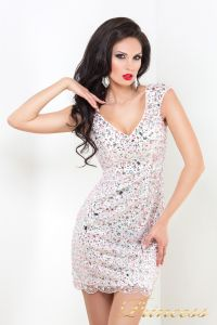 Коктейльное платье 26L. Цвет розовый. Вид 3