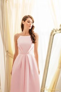 Коктейльное платье 19048-pink. Цвет пудра. Вид 5