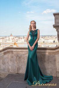 Вечернее платье 7038. Цвет зеленый. Вид 1