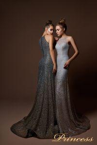 Вечернее платье 9058. Цвет серебро. Вид 2